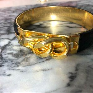 Vita Gold And Leather Bracelet
